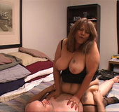 Old Mexican slut with big butt spreads her legs to allow a thick meat