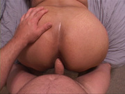 dude cumming big butt