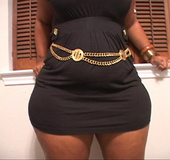 Bodacious ebony mamasita in a black sexy dress came for dirty anal banging