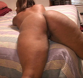 Plump black slut is happy to have her asshole stuffed with a white dick