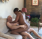 Sexy black bitch with fat ass gets it oiled and rimmed hard
