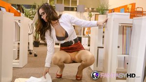 Office slut in red shoes and glasses get - XXX Dessert - Picture 6