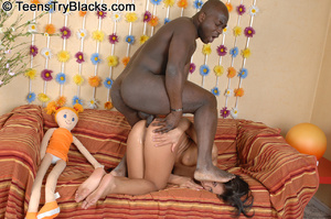 Black dude fucks tight brunette teen's a - XXX Dessert - Picture 9