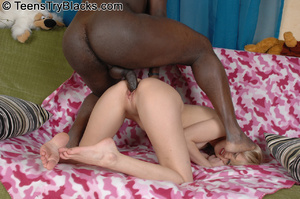 Blonde teen on black schlong - Picture 8