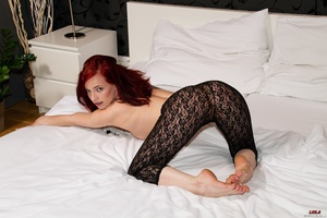 Small-titted ginger Leila fucking hersel - XXX Dessert - Picture 9