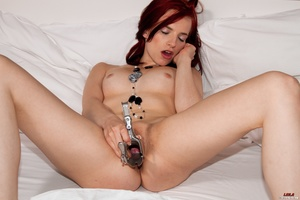 Small-titted ginger Leila fucking hersel - XXX Dessert - Picture 14
