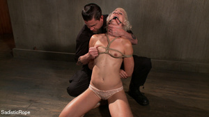Small-titted girl roped and suspended fo - XXX Dessert - Picture 2
