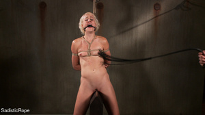 Small-titted girl roped and suspended fo - XXX Dessert - Picture 6
