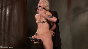 Small-titted girl roped and suspended fo - XXX Dessert - Picture 13