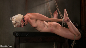Small-titted girl roped and suspended fo - XXX Dessert - Picture 14