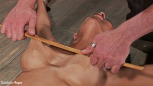 Brunette gal roped and suspended gets pu - XXX Dessert - Picture 13