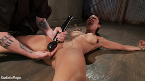 Brunette gal roped and suspended gets pu - XXX Dessert - Picture 15