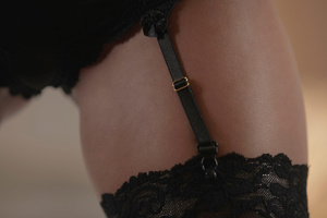 Bald dude fucking Gianna in black lace s - XXX Dessert - Picture 2