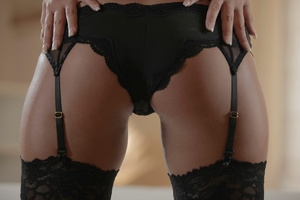 Bald dude fucking Gianna in black lace s - XXX Dessert - Picture 3