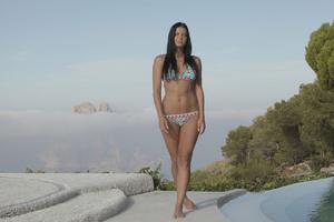 Slim brunette teen in bikini fucking at  - XXX Dessert - Picture 1