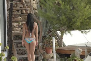 Slim brunette teen in bikini fucking at  - XXX Dessert - Picture 2