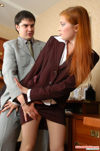 ginger mature secretary seduced