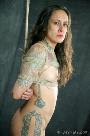 Tattooed bitch shinju bound and hung for - XXX Dessert - Picture 1