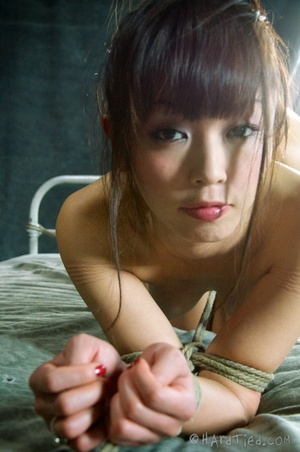 Asian teen in yellow dress hogtied and b - XXX Dessert - Picture 11