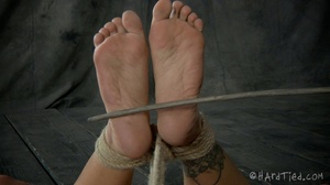 Tattooed bitch shinju bound and hung for - XXX Dessert - Picture 13