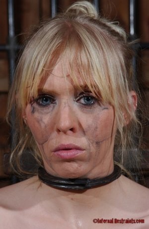 Tattooed blonde tied hard for bad painfu - XXX Dessert - Picture 2
