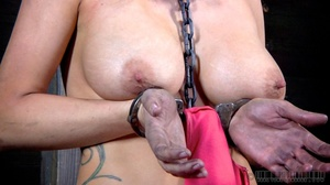 Pigtailed blonde slave gets enchained an - XXX Dessert - Picture 6