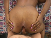 dirty ebony housewife jumping