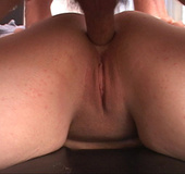 Tattooed bitch with fat ass gets it banged eagerly from behind