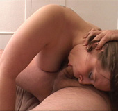 Plump MILF enjoys riding cock with her butthole