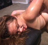 Plump red mom gets ass doggystyled