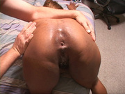 busty black fatty with