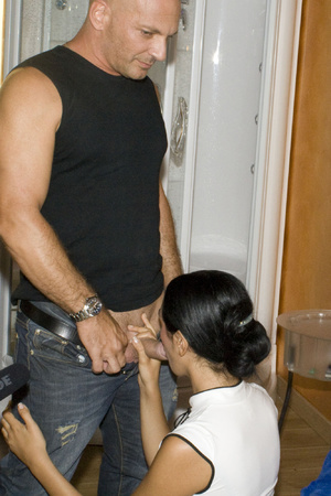 Two guys pounding hard cool brunette in  - XXX Dessert - Picture 1