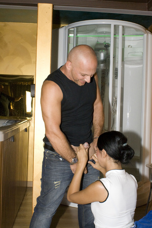 Two guys pounding hard cool brunette in  - XXX Dessert - Picture 2