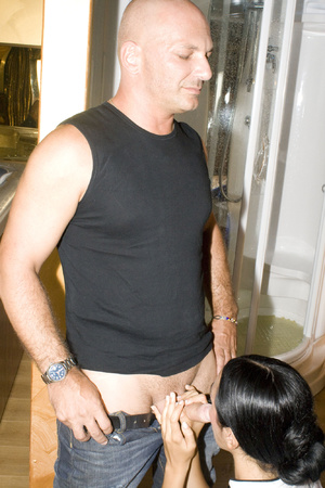 Two guys pounding hard cool brunette in  - XXX Dessert - Picture 3
