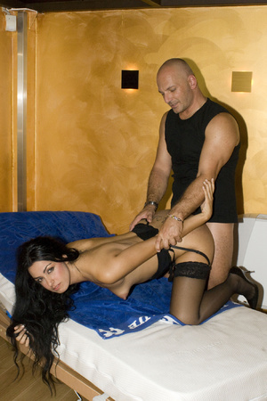 Two guys pounding hard cool brunette in  - XXX Dessert - Picture 8