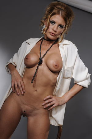 Sexy MILF in stockings and beads serving - XXX Dessert - Picture 3