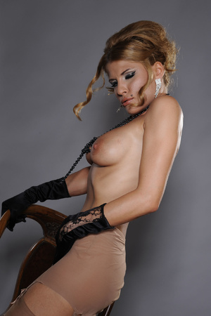Sexy MILF in stockings and beads serving - XXX Dessert - Picture 6