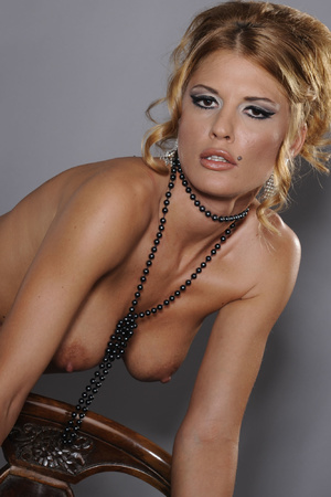 Sexy MILF in stockings and beads serving - XXX Dessert - Picture 7