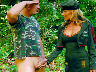 blonde military uniform assfucked