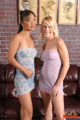 busty blonde asian friend