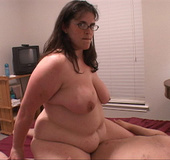 Fatty in glasses doggystyled