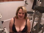 plump housewife black lingerie
