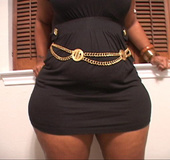 Bootylicious black mom in short dress