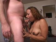 curly ebony bbw sucking