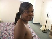 ponytailed ebony slut enjoys