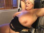 big-titted blonde mature banged