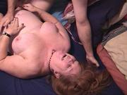 dude cumming onto tits