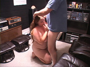 plump long-haired bitch sucking