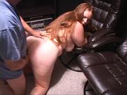 long-hared chubby slut gets