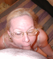 slutty granny glasses sucking